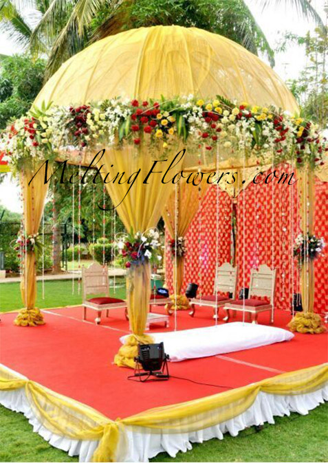 Tips for beautiful mandap decoration wedding decorations for Artificial flower decoration mandap