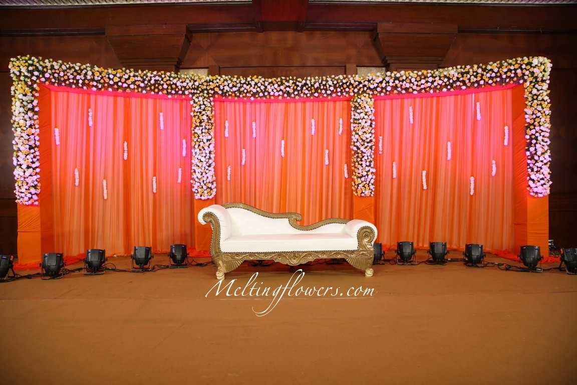 Wedding stage decoration bangalore wedding decorations for Backdrops decoration