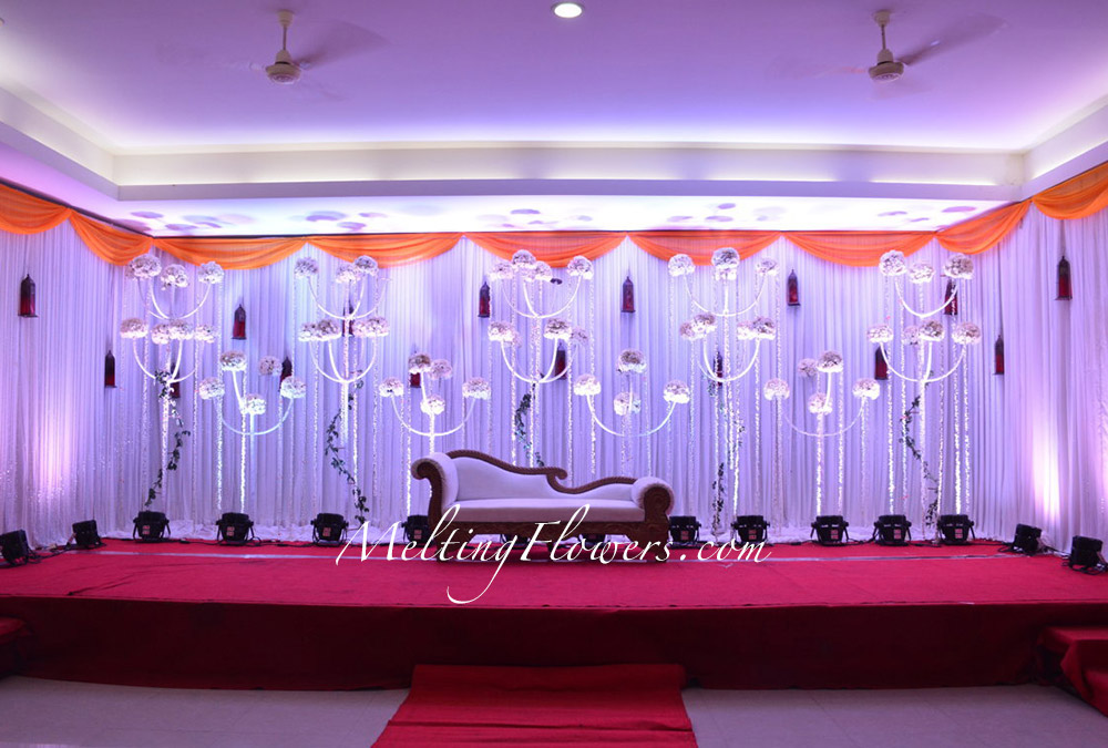 wedding stage decorations in - photo #47