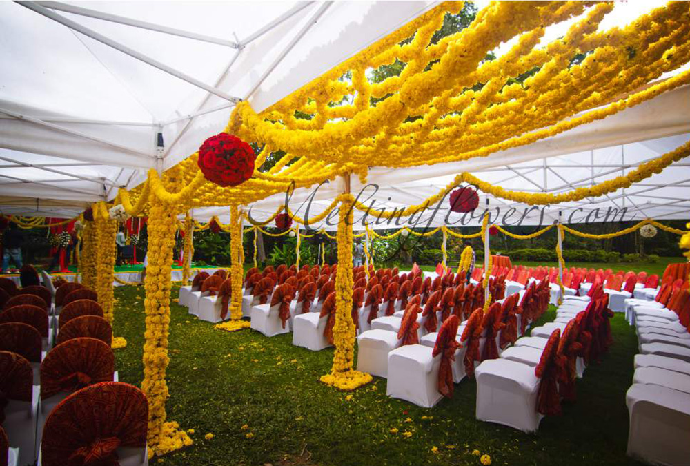 Plan Outdoor Wedding Decoration For A Blooming Start Of Life Wedding Decorations Flower