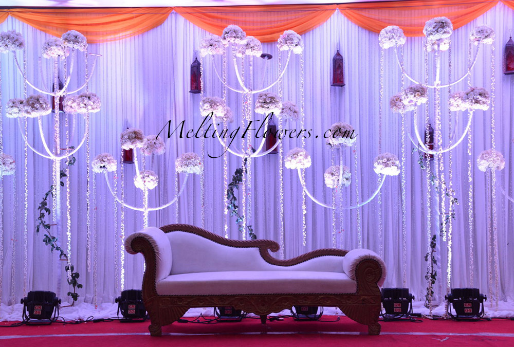 Get to know some graceful wedding stage decoration ideas for Backdrops for stage decoration