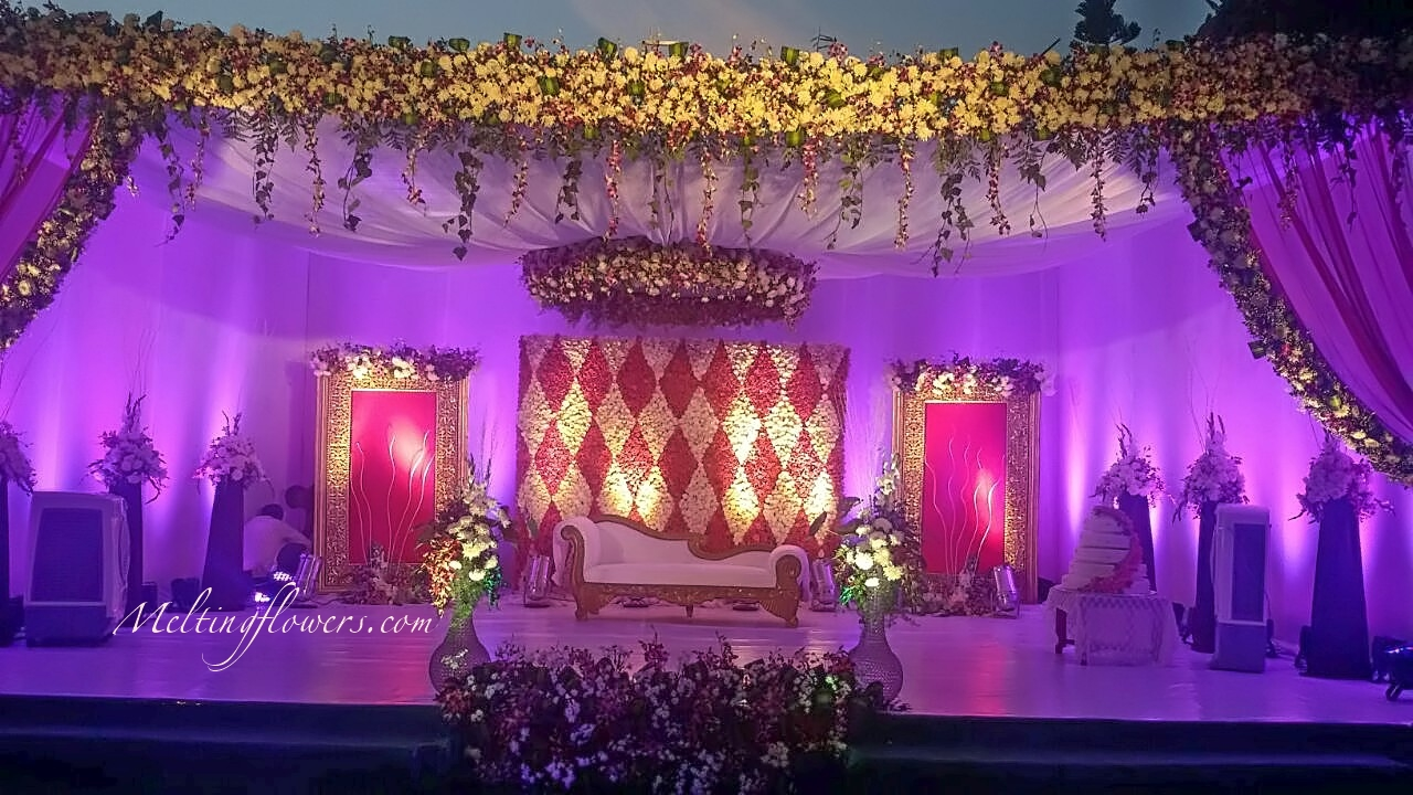 Types of wedding stage decoration and its growing for Back ground decoration