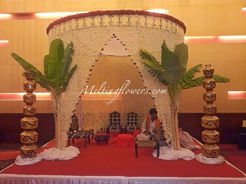 10 adorable ideas to make sure your indian wedding is the for Artificial flower decoration mandap