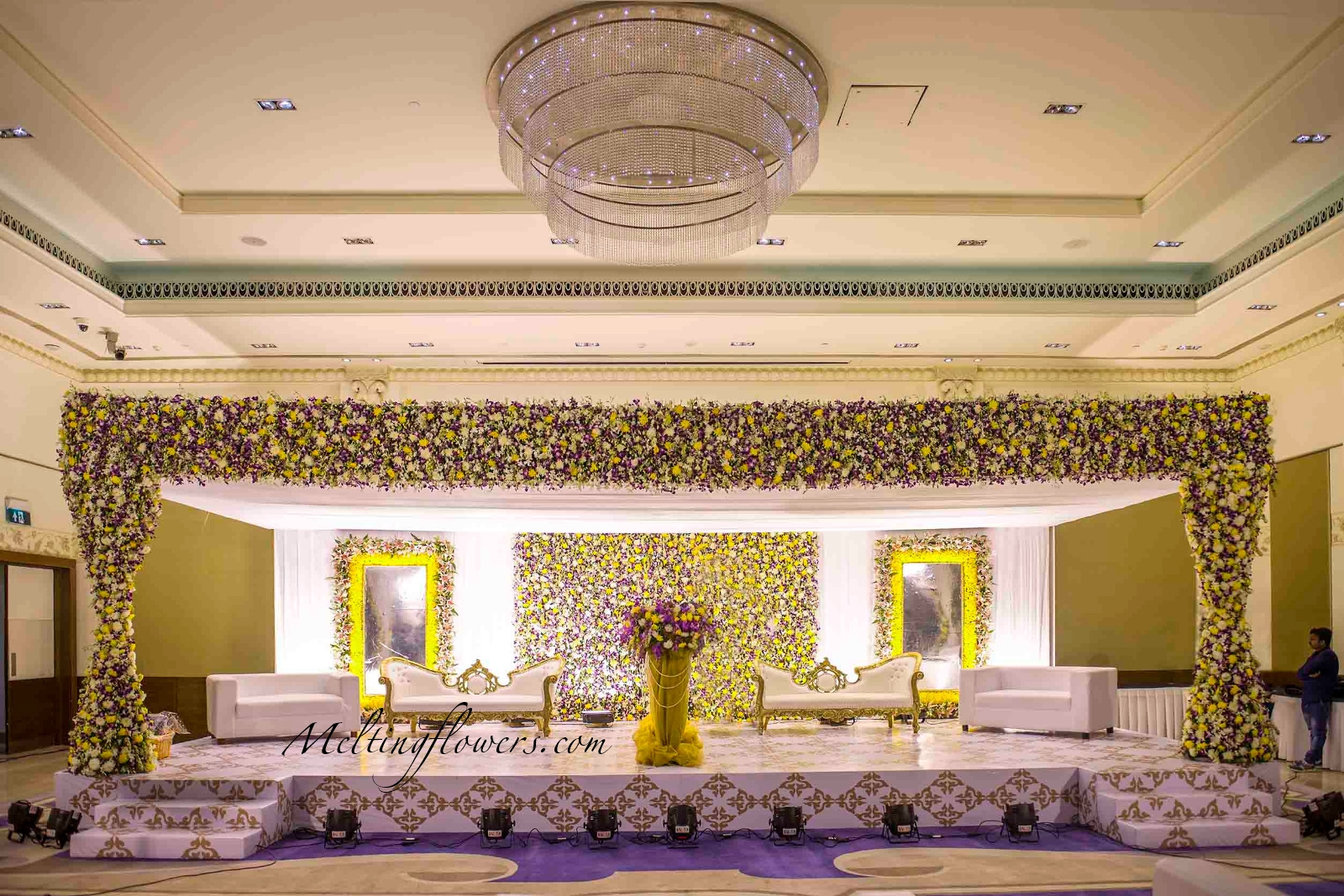 Wedding stage decoration the top 5 ideas for your for Background decoration