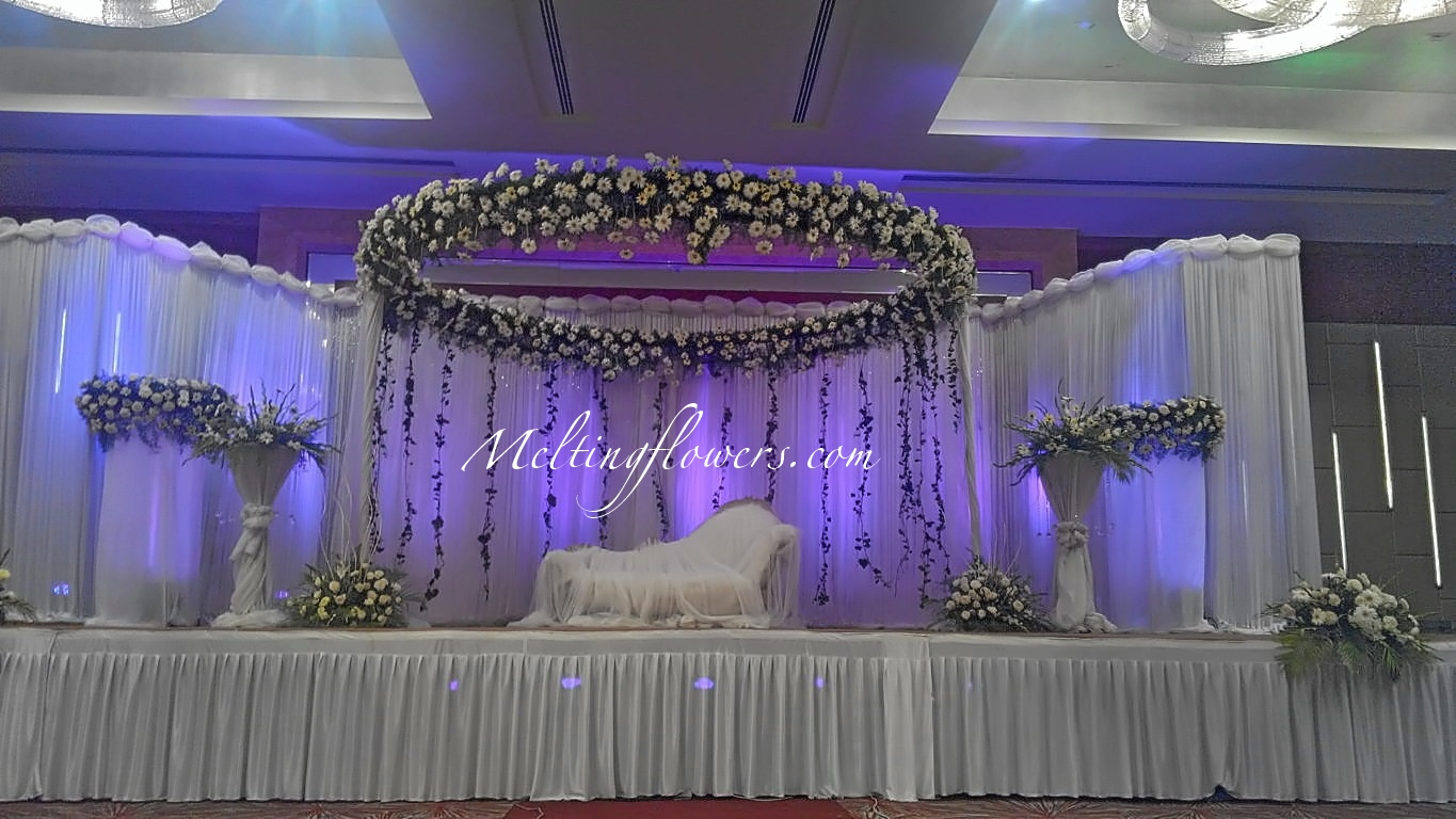 Engagement ceremony decor ideas wedding decorations flower decoration mar - Decoration mural design ...