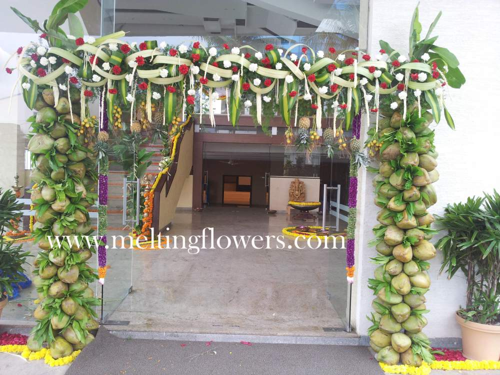 Decor for corporate events in bangalore wedding for Artificial flower decoration mandap