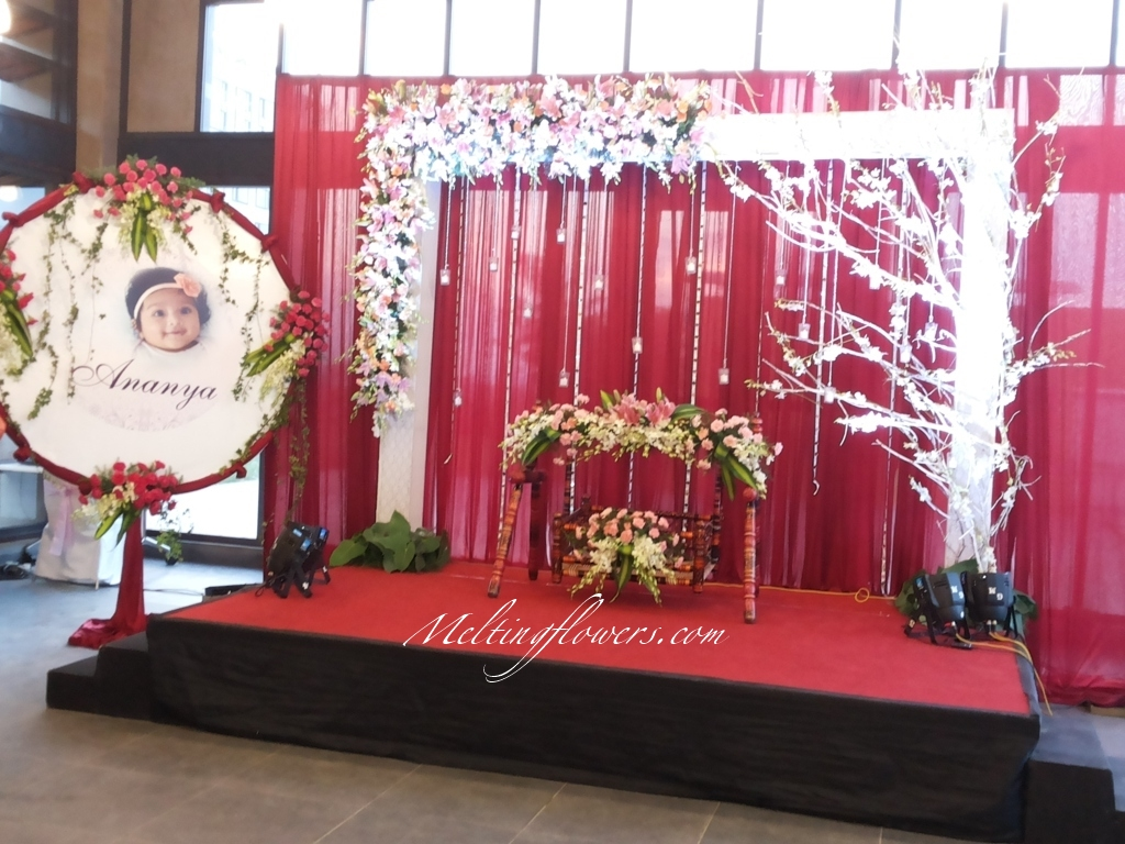 Naming ceremony decoration ideas from the best flower for Baby namkaran decoration