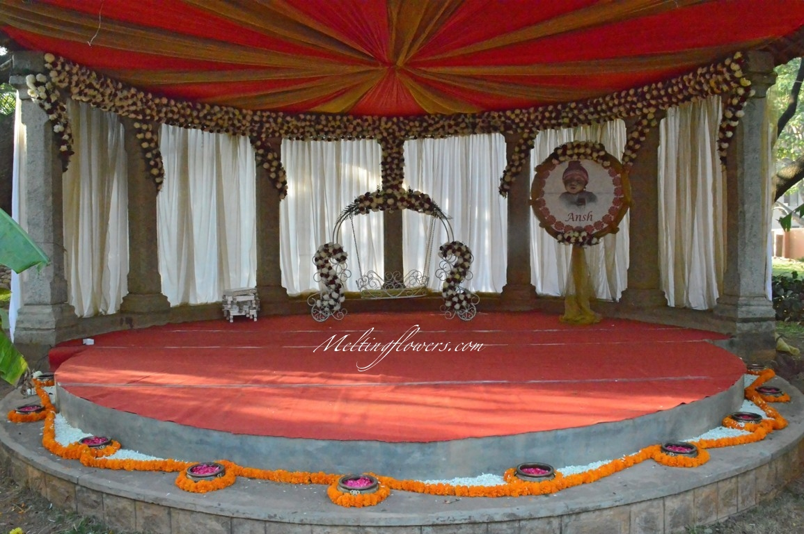 marigold naming ceremony decoration