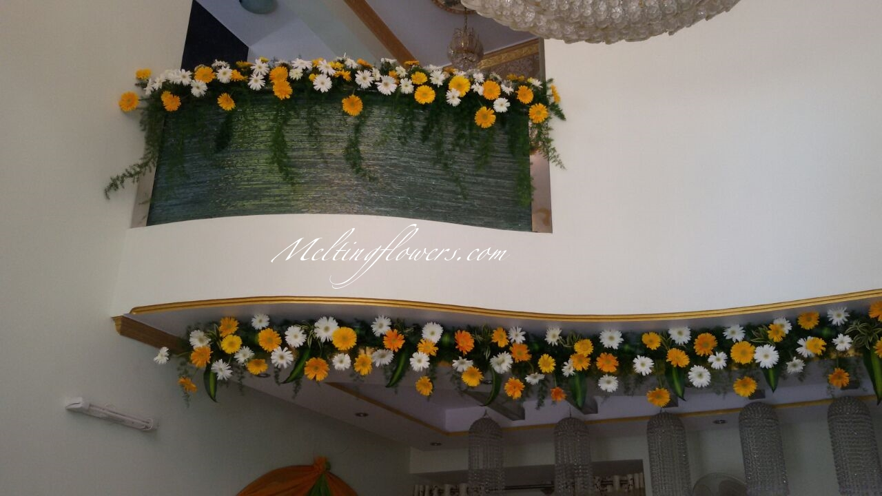 Housewarming Decoration With Best Flower Decorators Bangalore Wedding Decorations Flower
