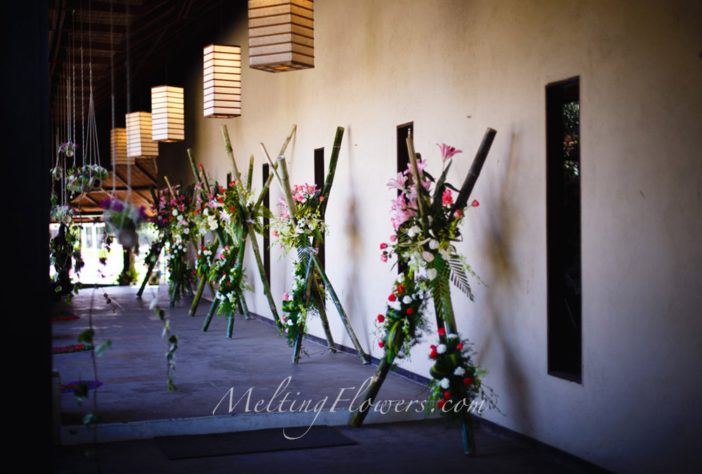 theme wedding blend of ikebana