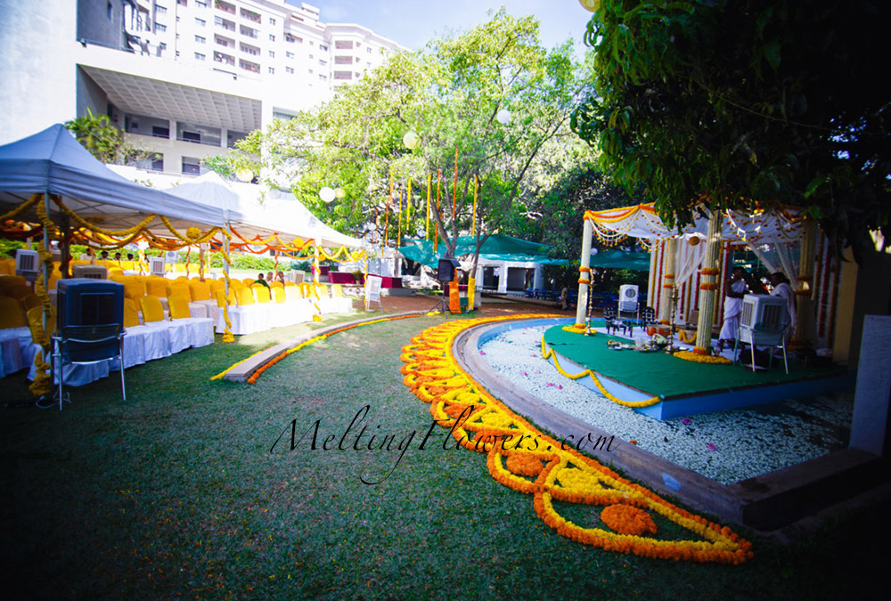 Traditional Marigold Theme Wedding Decoration