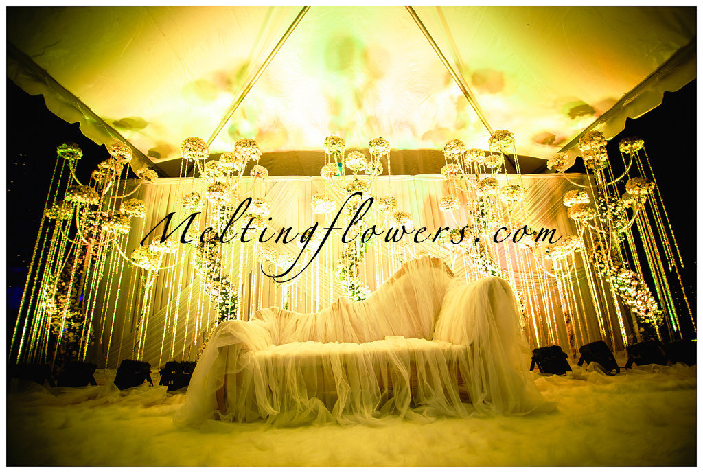 Dangling Lights and Flowers