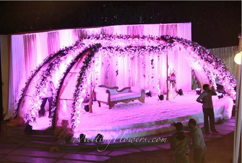 Reception Stage Decoration Wedding In Bangalore Marriage