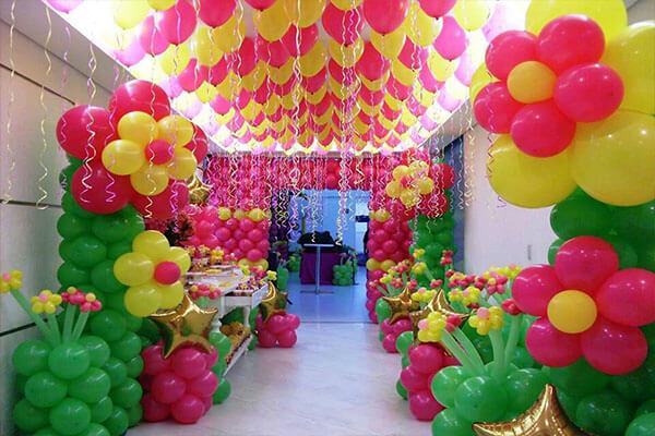 balloon decor for birthday