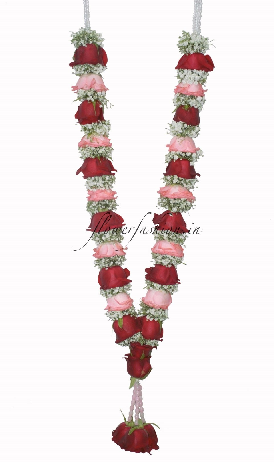 rose and baby's breath Flower garland