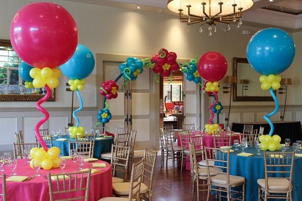 balloon centrepiece