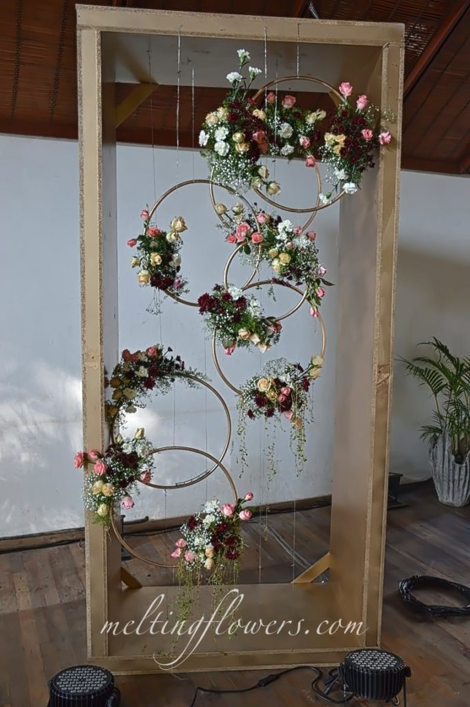 Photo Booth With Floral Rings