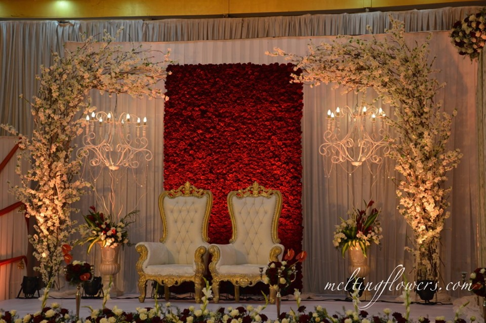 Red Rose Wedding Backdrop Decorations