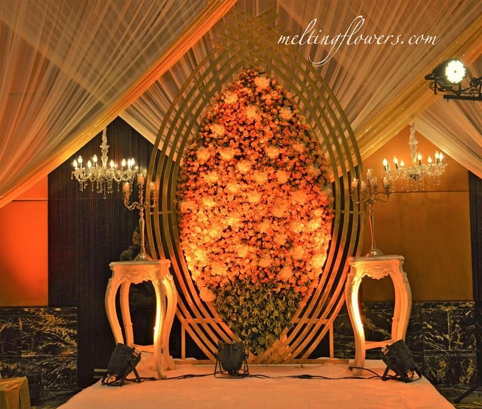 Floral Mesh Wedding Stage Decoration Bangalore