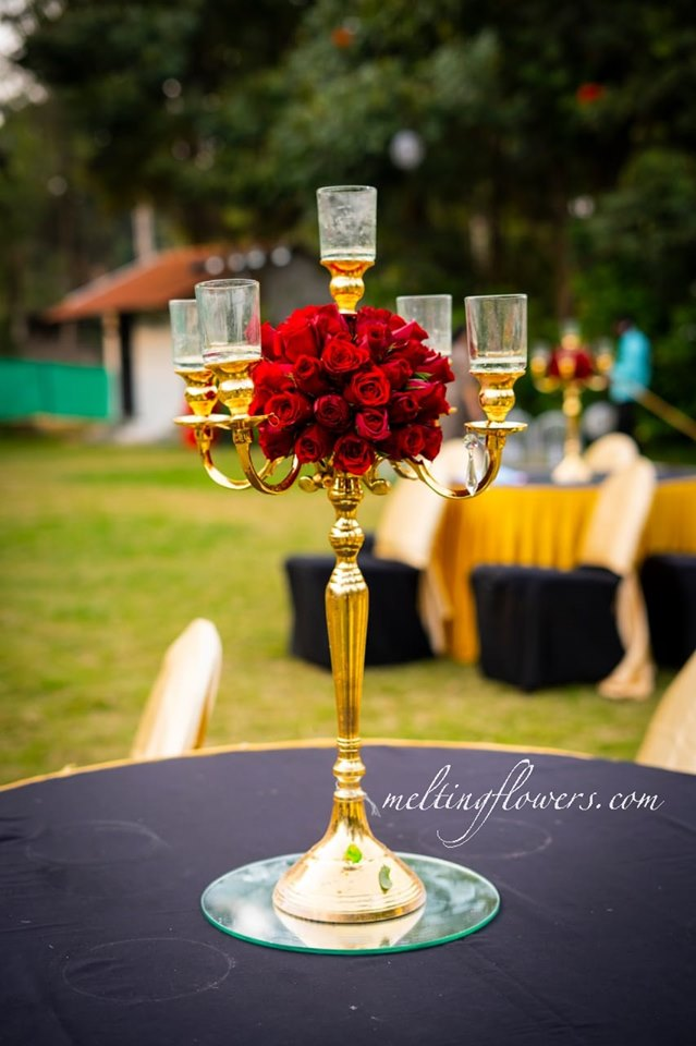 brilliant gold candle stand decoration