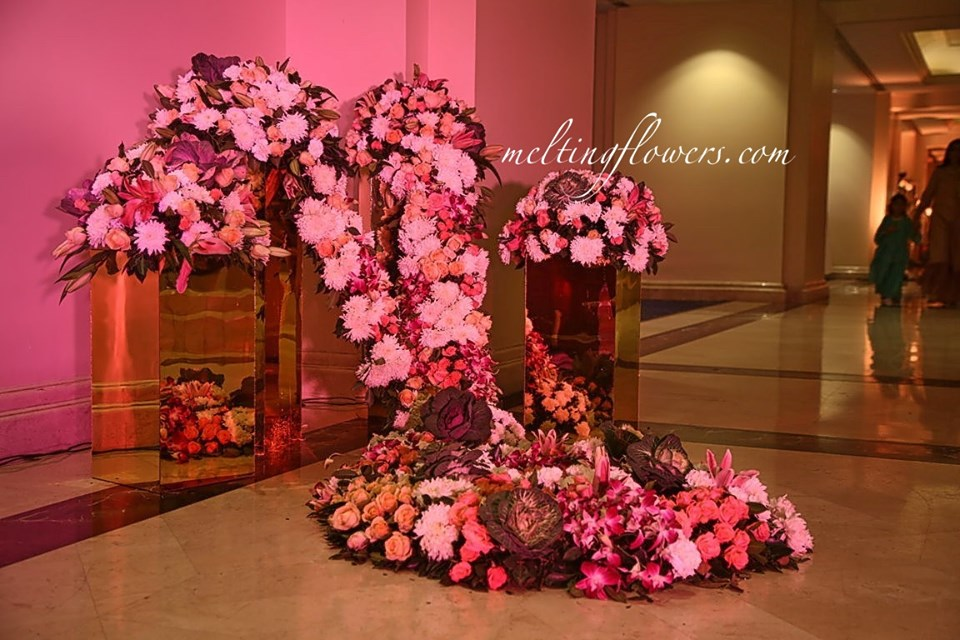 floral floor decor