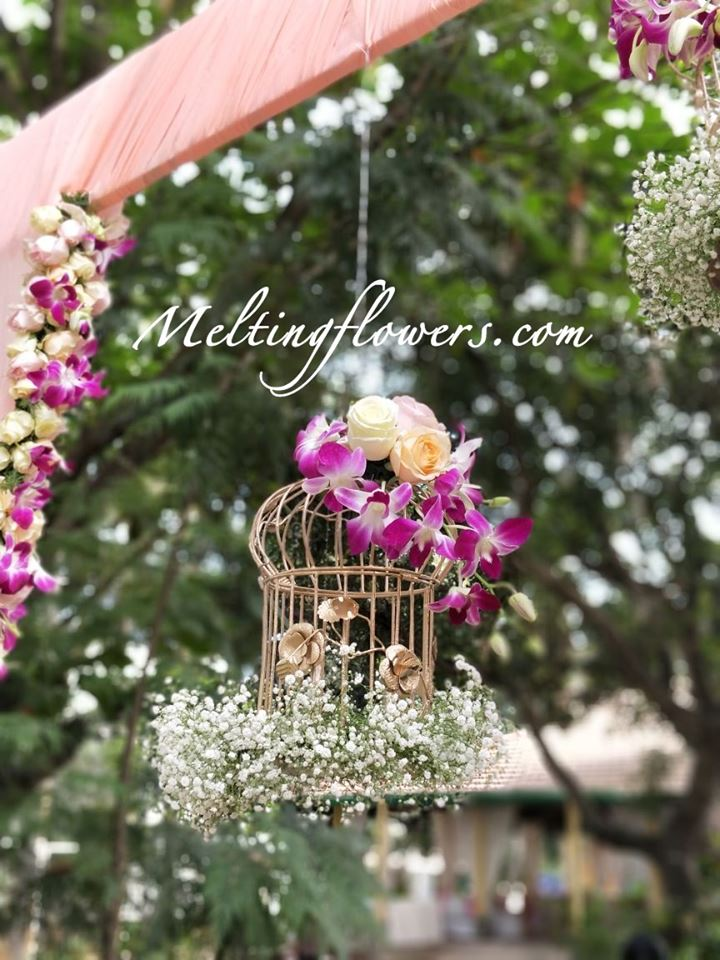 birdcage flower decor
