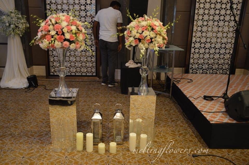 flower and candle decoration