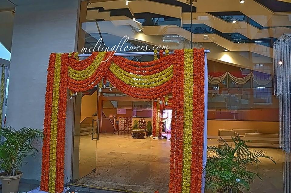 entrance decoration for Chennai weddings