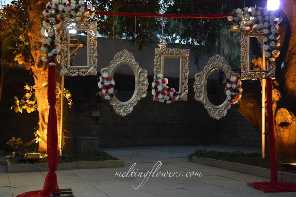 flower and ornate frame decor
