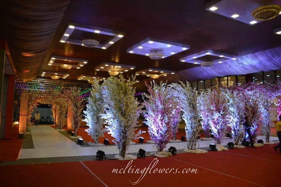 pathway flower decor