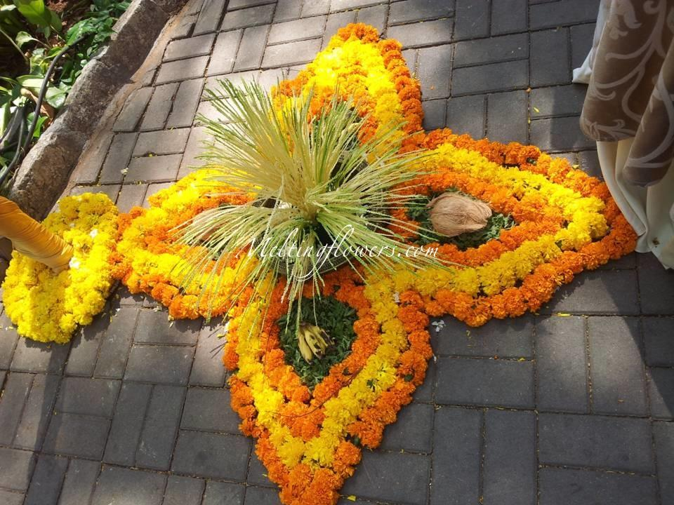 marigold flower decor