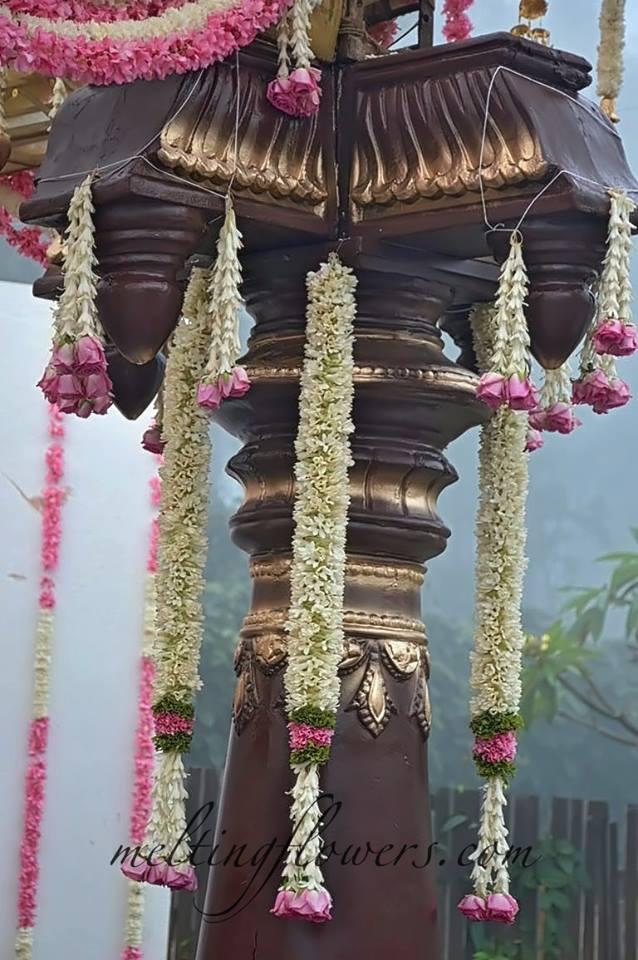 floral garland decor