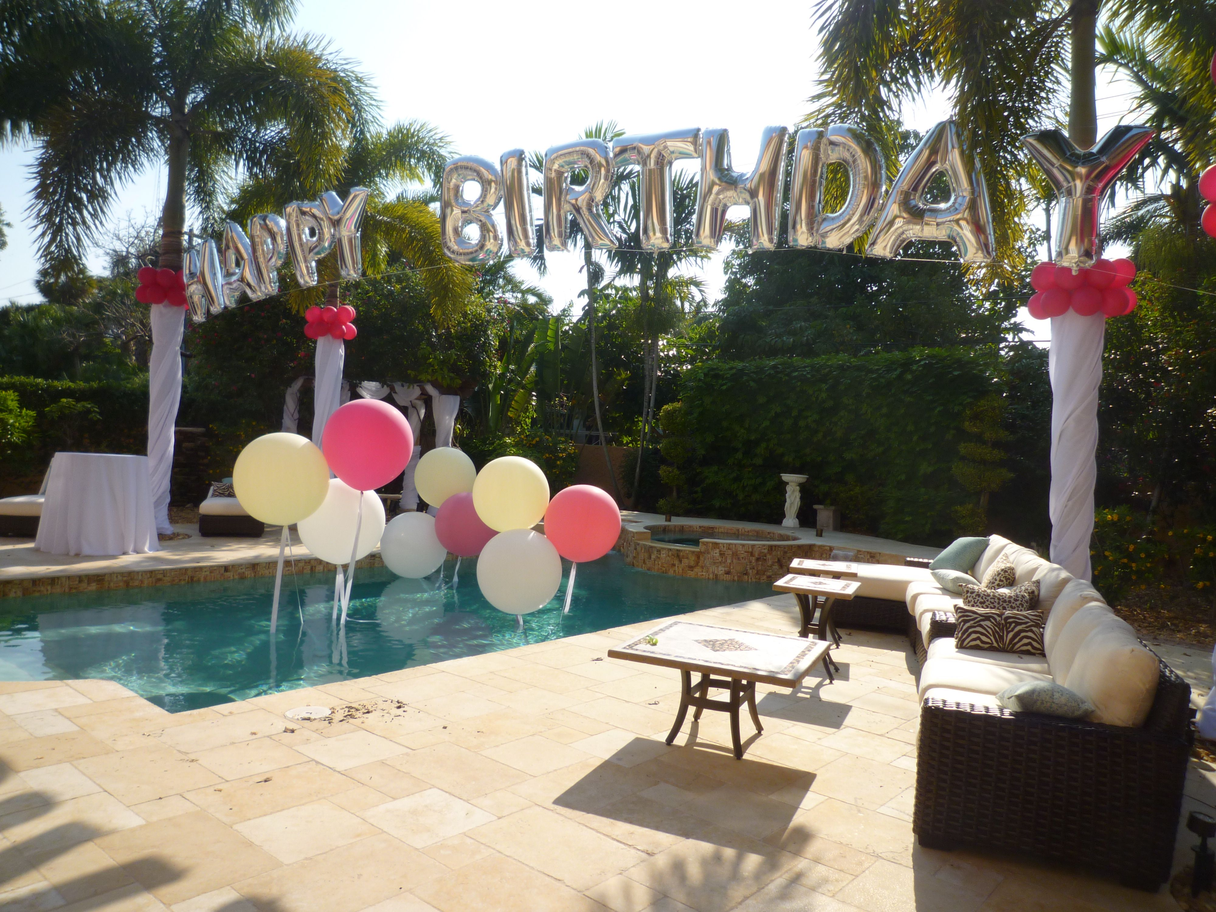 pool birthday party decoration