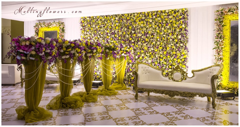 floral backdrop decor