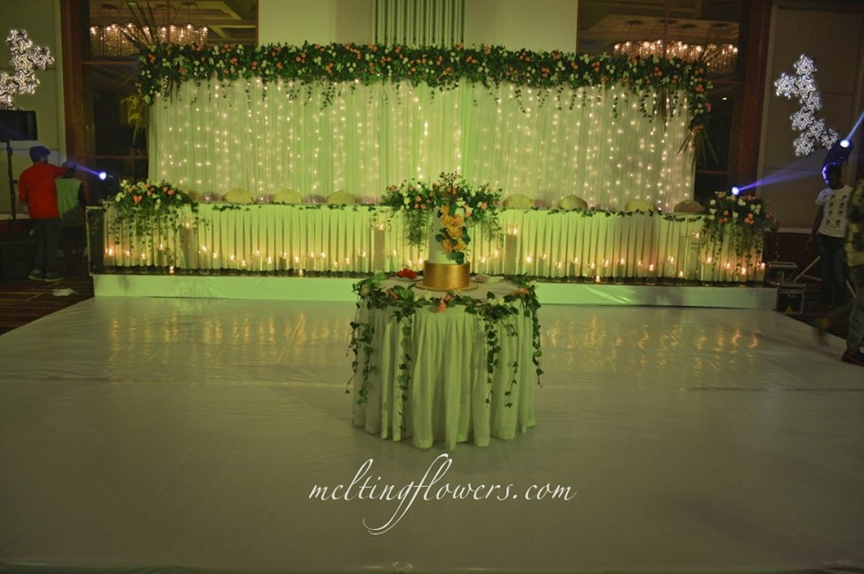 stage and table flower decor