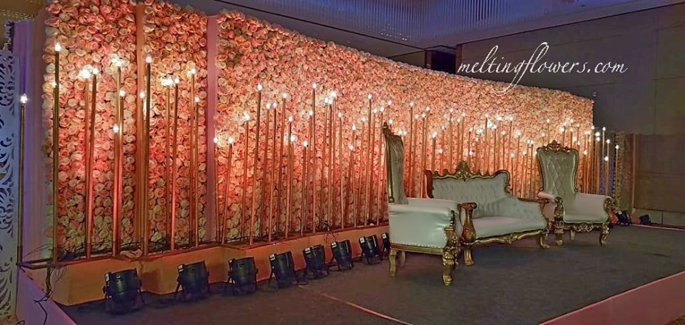 floral backdrop outdoor decor