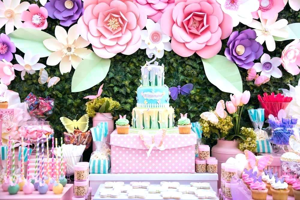 flower decoration for pool birthday party