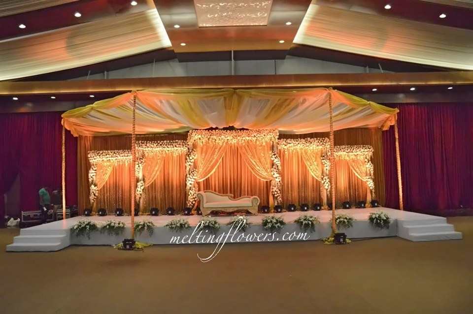 stage decor with drapes