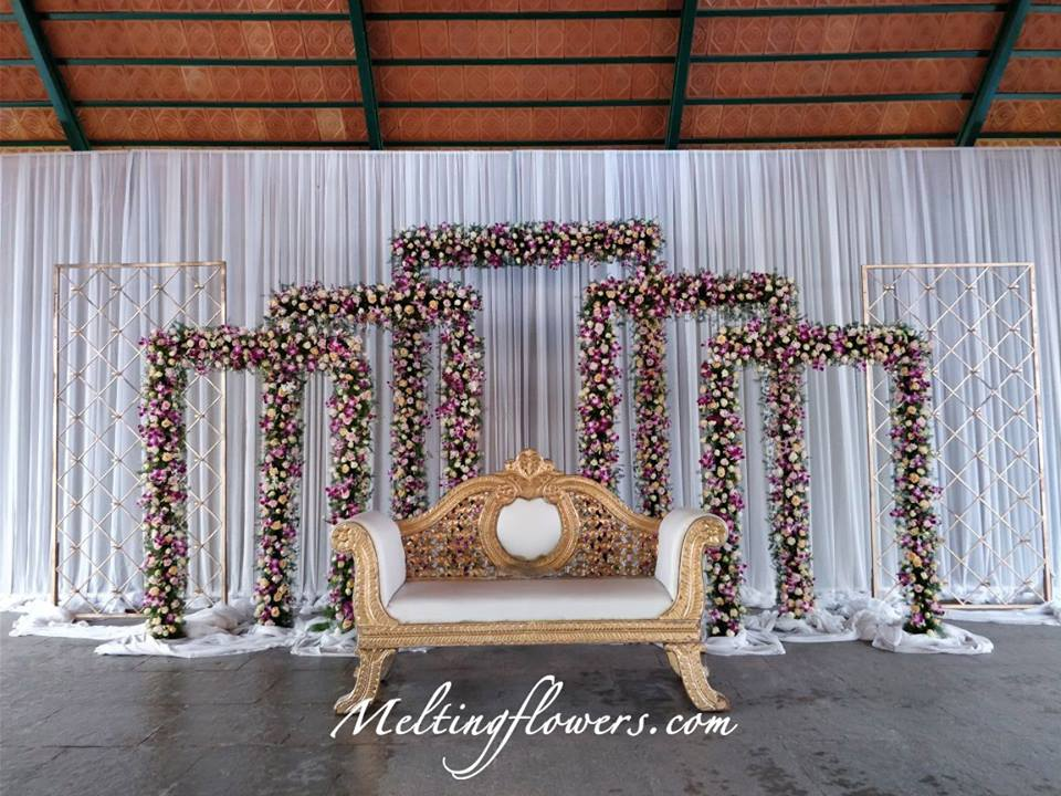flower frame backdrop decor
