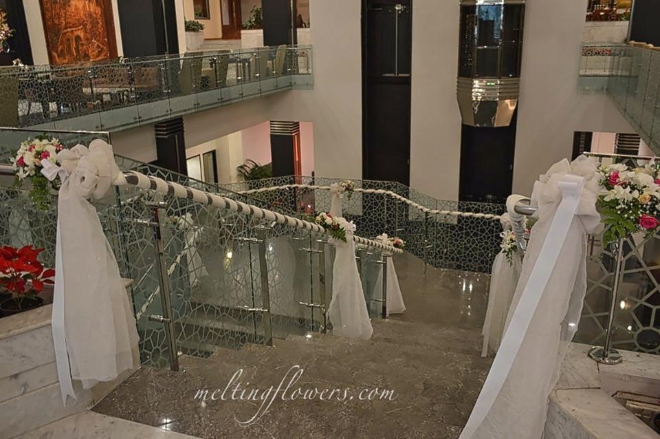drape handrail decor