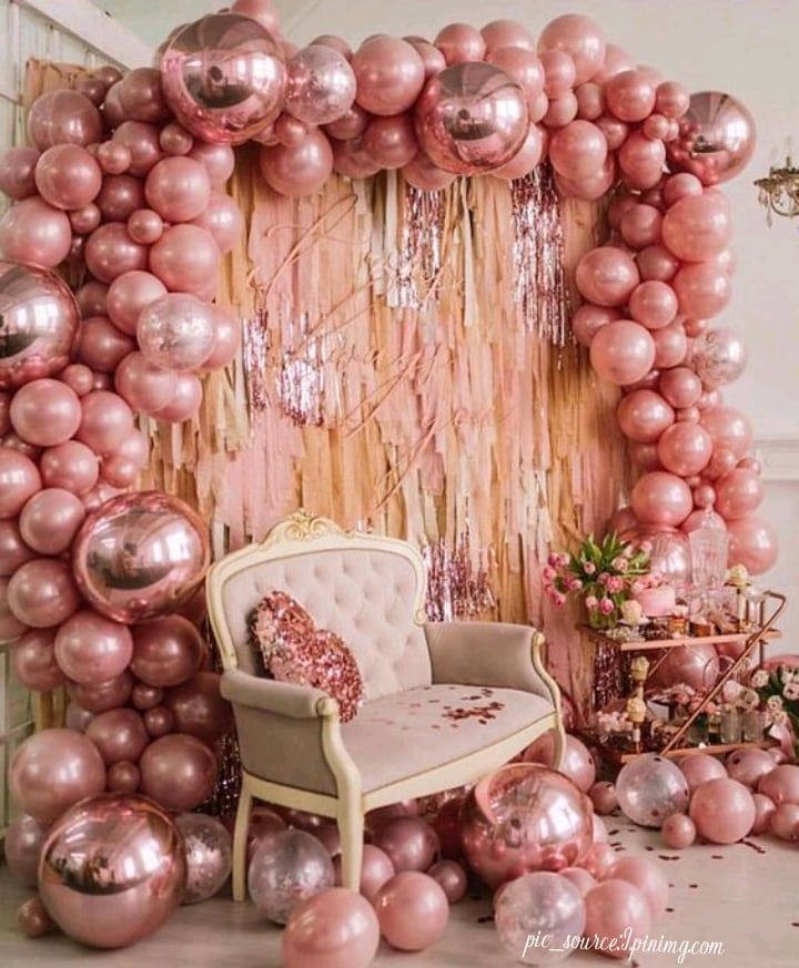 sparkly balloons decoration