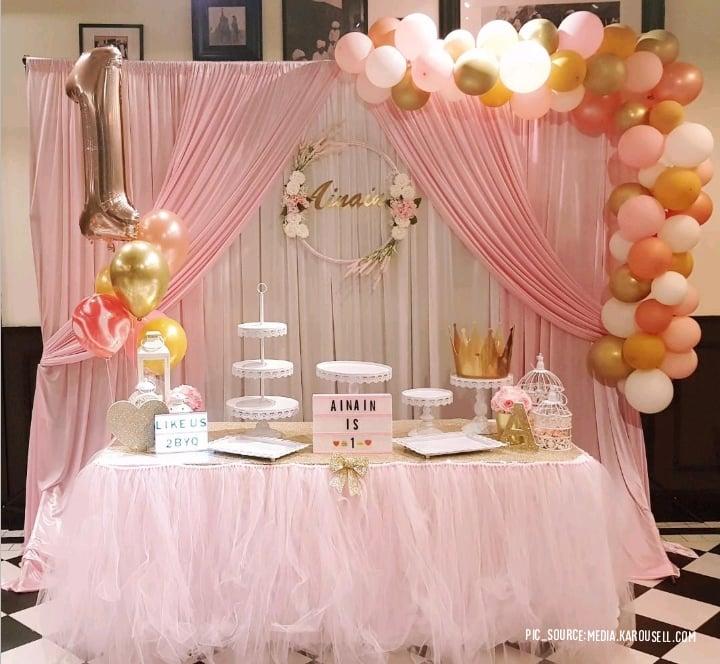 elegant pink backdrop decor