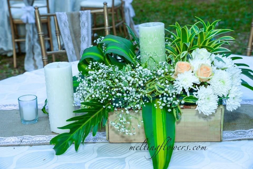 square box floral arrangement
