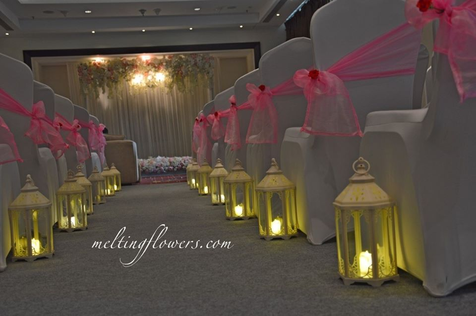 winter theme wedding decor