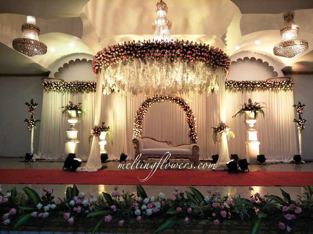 Floral Stage Decor You Can't Keep Your Eyes Off | Wedding Decorations,  Flower Decoration, Marriage Decoration | Melting Flowers Blog