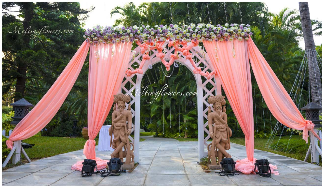 Wedding decoration pictures flower decoration for for Decoration jardin