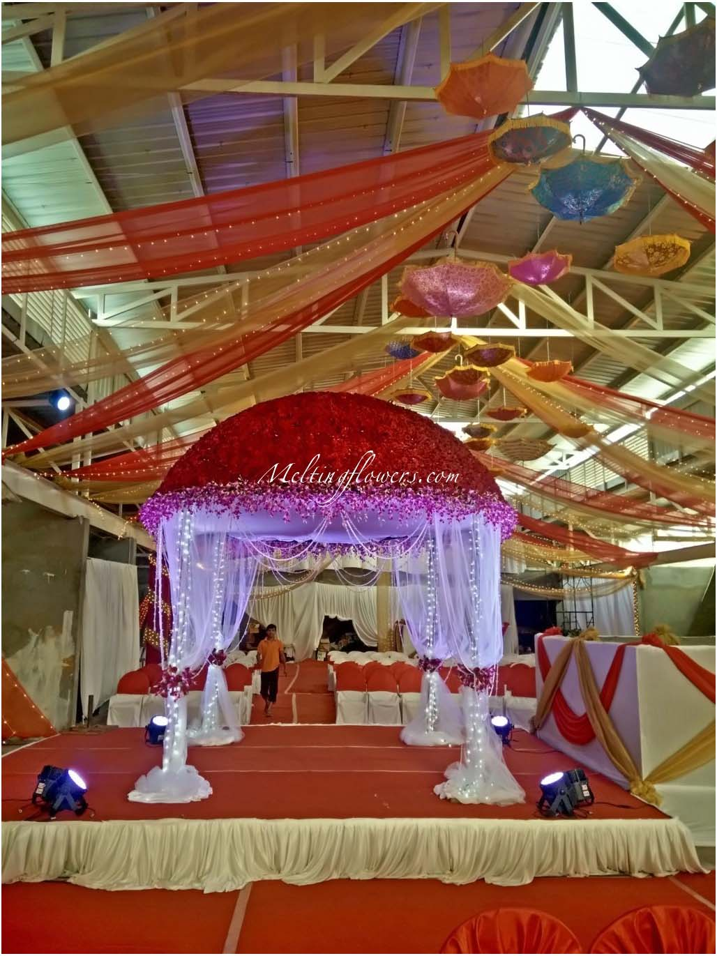Mandap decorations wedding mandap mandap flower for Artificial flower decoration mandap