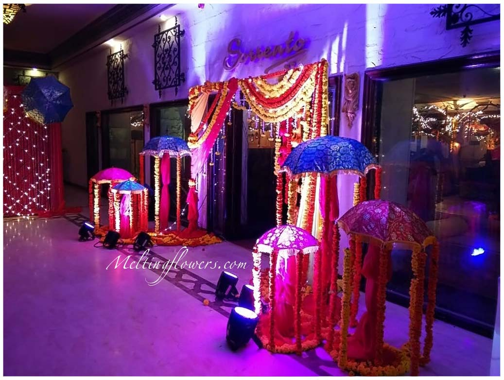 Mehndi and sangeet d cor mehndi decorations sangeet for Decoration ideas