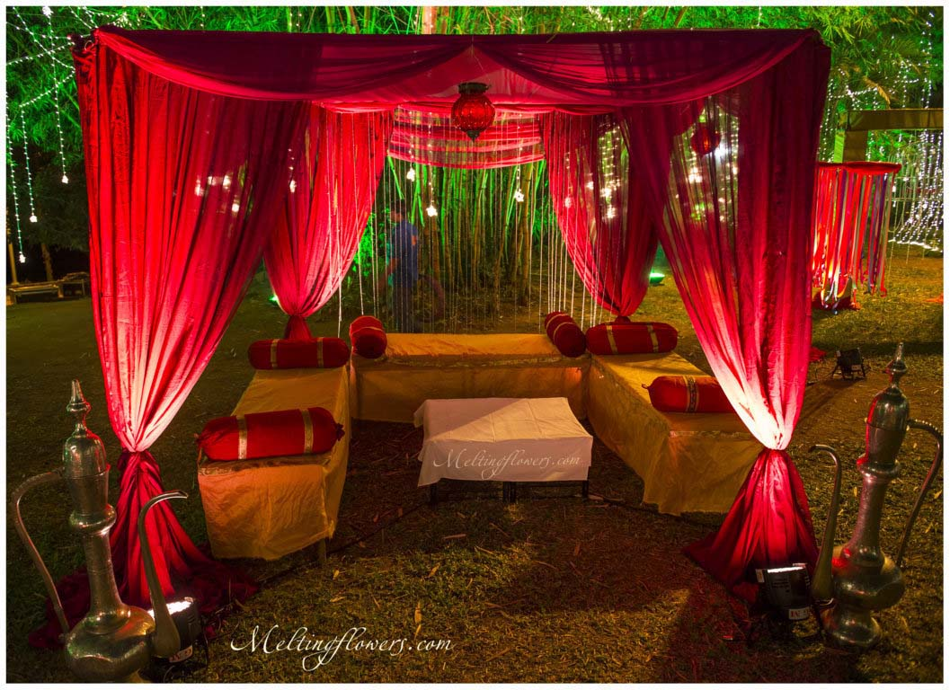 mehndi and sangeet d cor mehndi decorations sangeet decorations melting flowers. Black Bedroom Furniture Sets. Home Design Ideas