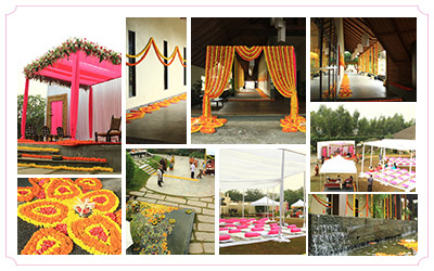 Theme wedding decorations indian wedding decoration themes melting flowers touch of pink junglespirit Image collections